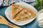Пирог с картошкой, грибами и курицей