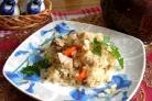 Курица с рисом в горшочке
