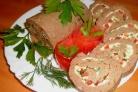 Паштет из куриной печени с овощами