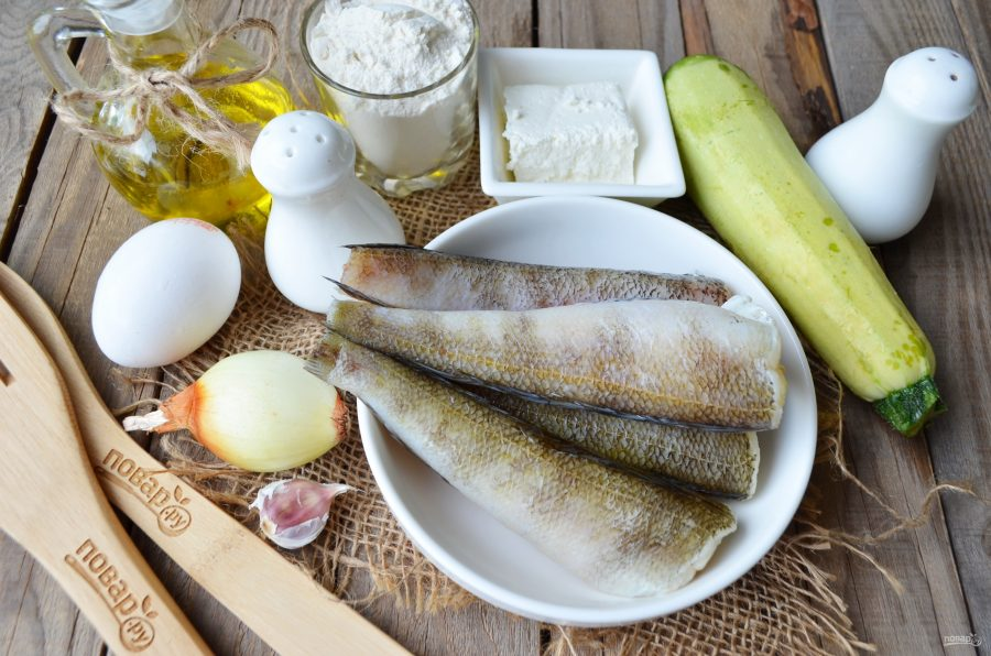 Рыбные котлеты с творогом и кабачками