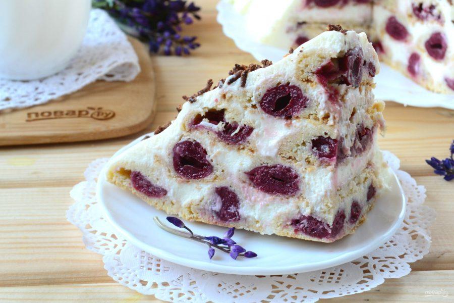 """Сметанный торт с вишней """"Монастырская изба"""""""