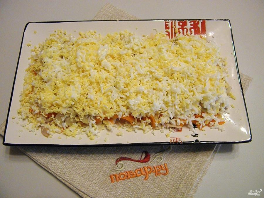Салат из курицы с майонезом