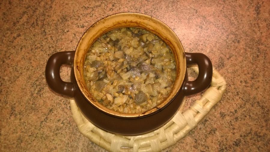 полба с сушеными грибами