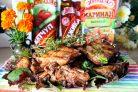 Лучший рецепт запеченных свиных рёбрышек с маринадом, аджикой и кетчупом