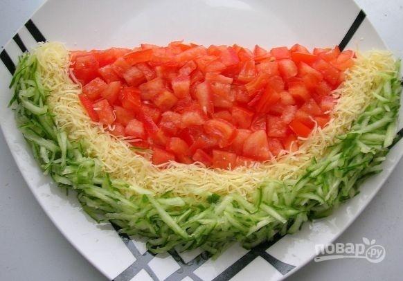 """Салат """"Долька арбуза"""""""
