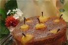 Торт с грушами