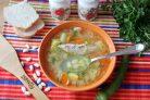 Суп из фасоли с индейкой