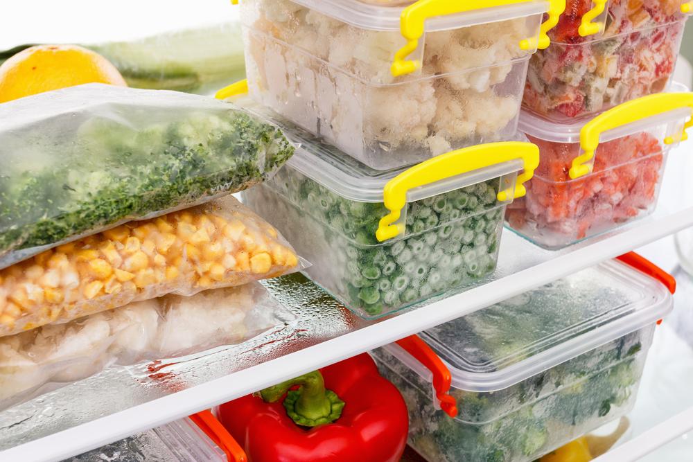 Замороженные овощи с малым содержанием воды
