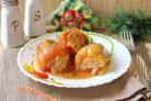 Фаршированные перцы в томатно-сметанном соусе
