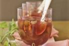 Гранатовое желе с виноградом