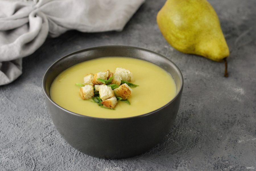Овощной суп с грушей