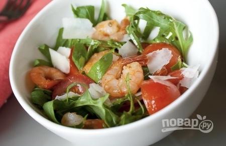 Салат морепродукты бальзамический уксус