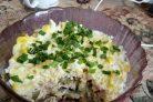 Салат слоеный с грибами