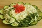 Салат с сыром слоями