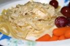 Тушеная курица в сливочном соусе