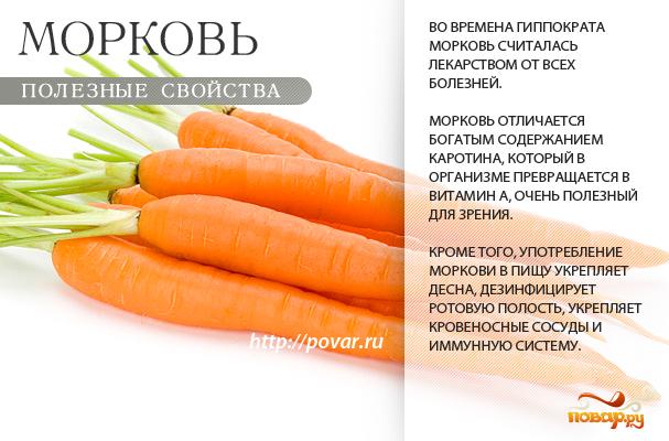 Морковь - полезные свойства