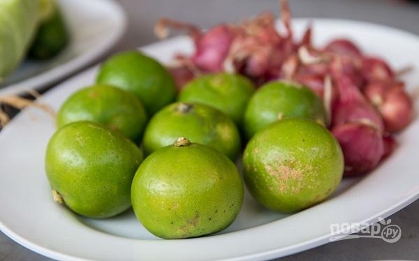 Теплый тайский салат с говядиной