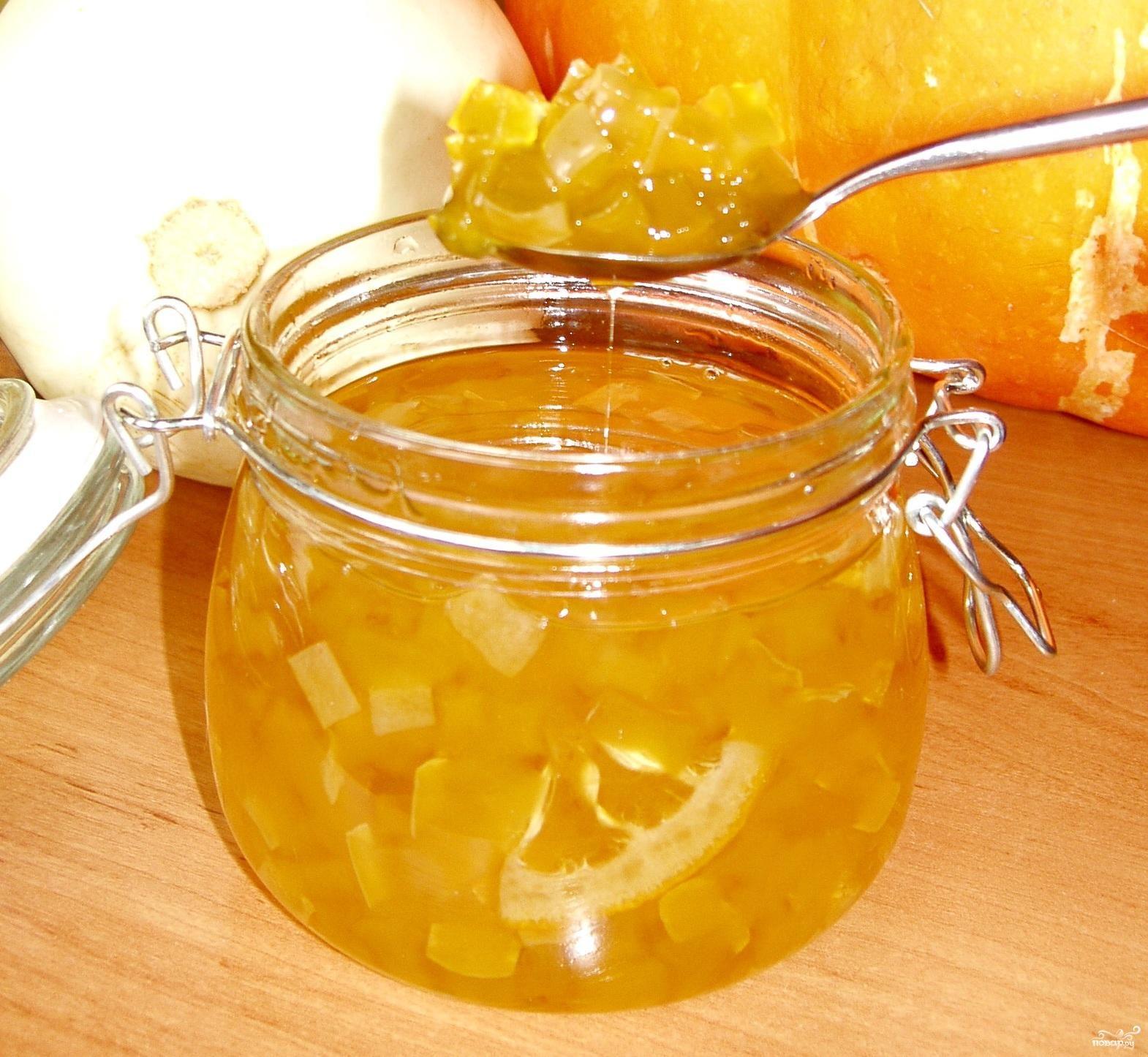 Варенье из тёртых кабачков с лимоном