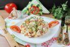 Салат с крабовыми палочками за 5 минут