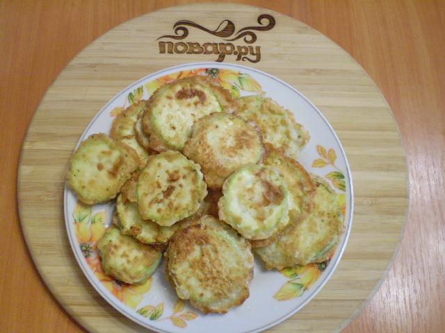 Жареные кабачки в яйце и муке