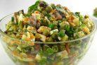 Салат с курицей и грибами Осень
