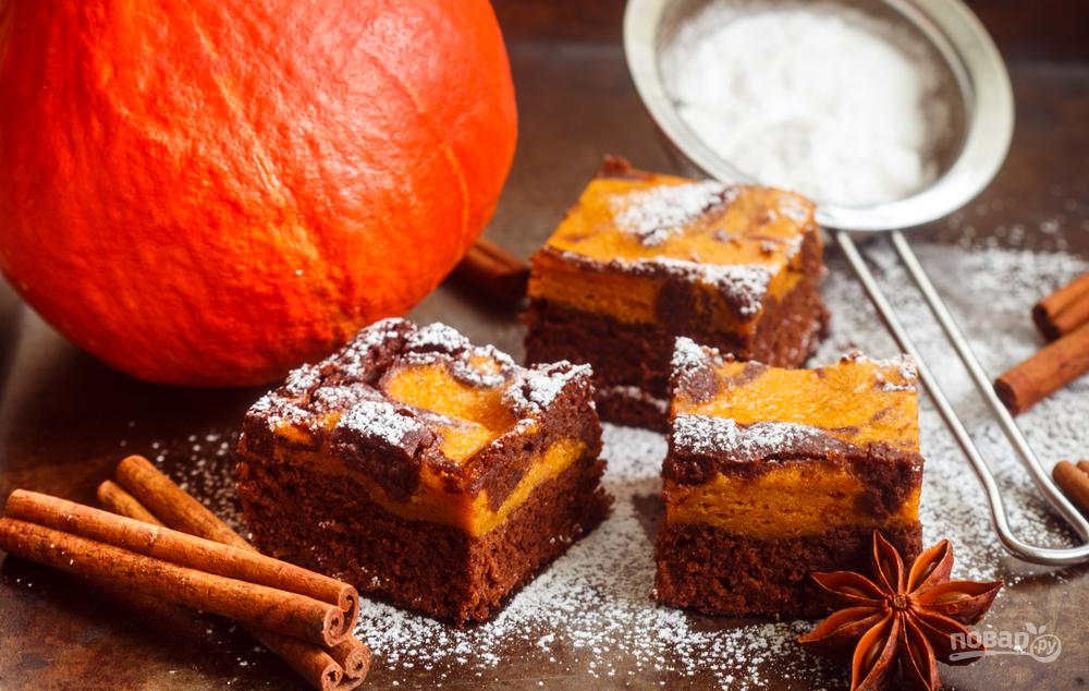 Шоколадный пирог с тыквой