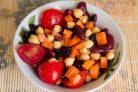 Фасолевый салат с морковкой