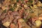 Рагу из оленины с помидорами и кабачками