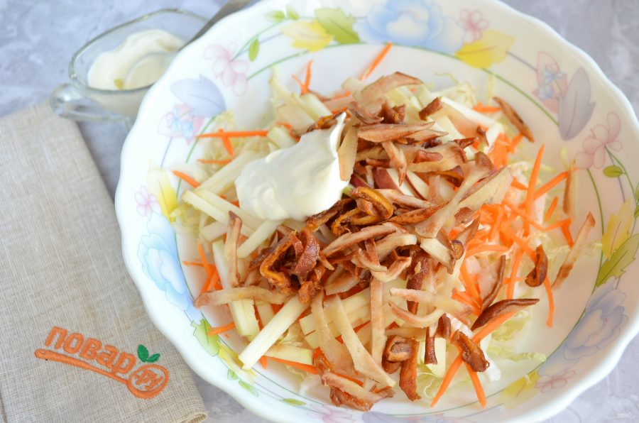 Легкий зимний салат