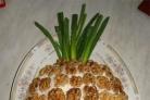Салат с ветчиной и ананасами