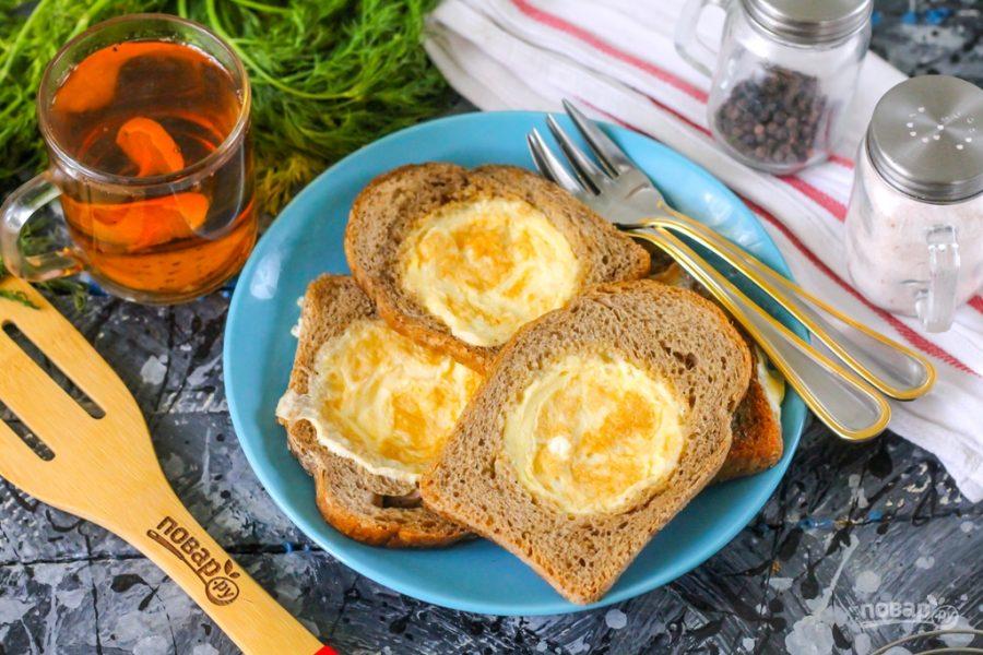 Омлет в хлебе