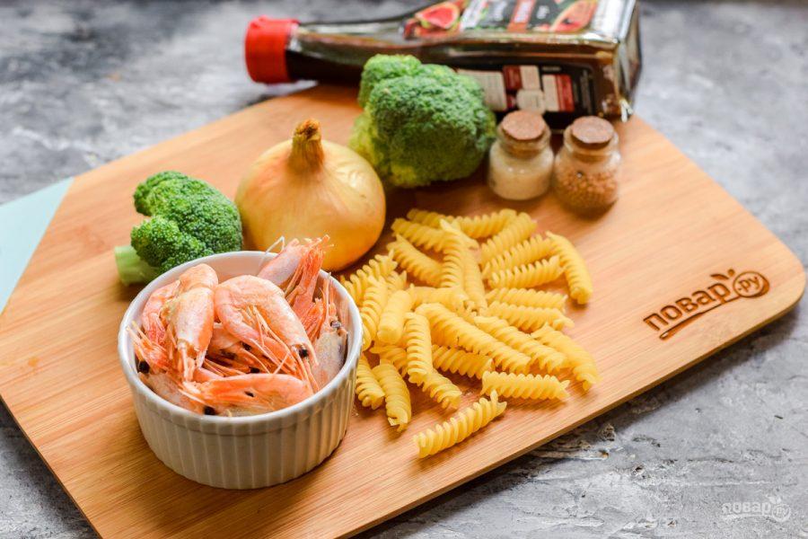 Диетическая паста с креветками