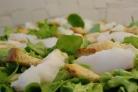 Салат с палтусом