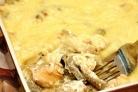 Жульен с рыбой и грибами