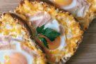 Яичница с хлебом (в духовке)