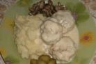 Биточки мясные в сметанном соусе в духовке