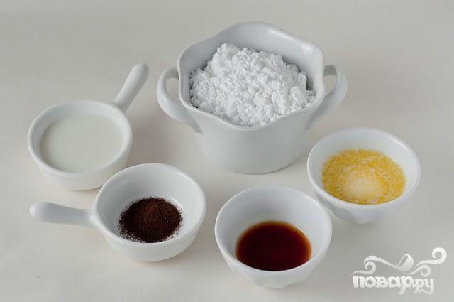 Печенье с корицей и кофейной глазурью