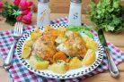 Картошка с курицей по-деревенски в духовке