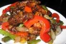 Говядина по-китайски с овощами