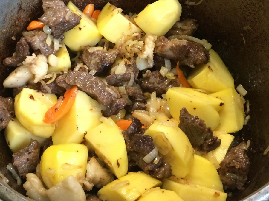 Рецепт казан-кебаб с картофелем 4