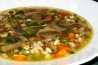 Грибной суп с чечевицей