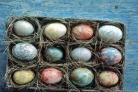 Яйца, крашенные разводами