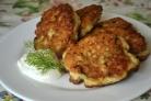 Кабачковые оладьи с куриным фаршем