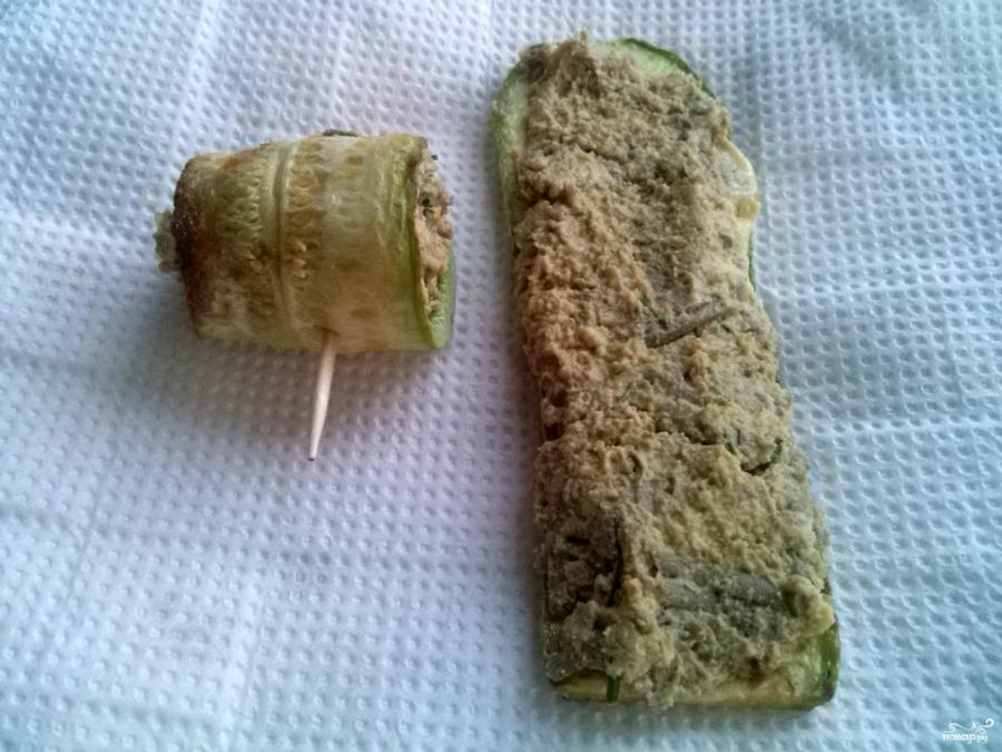 Рулетики из кабачков с разными начинками