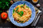 Рисовая лапша с овощами по-китайски