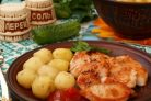 Мясо индейки, жареное на сковороде