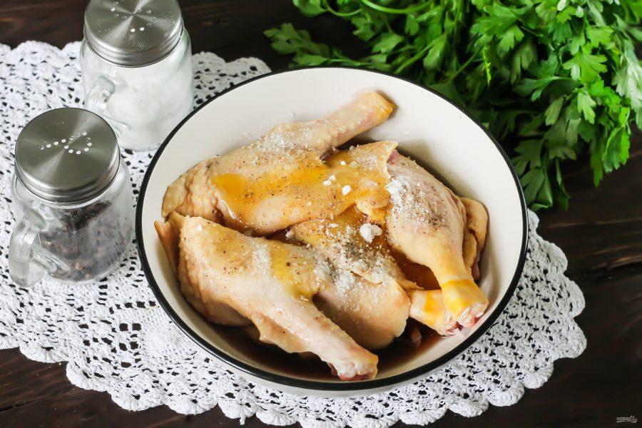 Утка в соевом соусе и меде