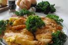 Курица в кляре на сковороде