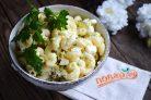 Салат из пасты с яйцами
