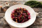 Салат из свеклы с кукурузой